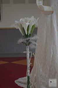 bouquet version sceptre en lis arisis