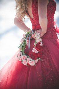 bouquet de mariée version sac