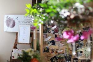 stand akane, bouquets de mariées, décor voiture et décors et compositions du  salon akane. copyright emmanuel godart